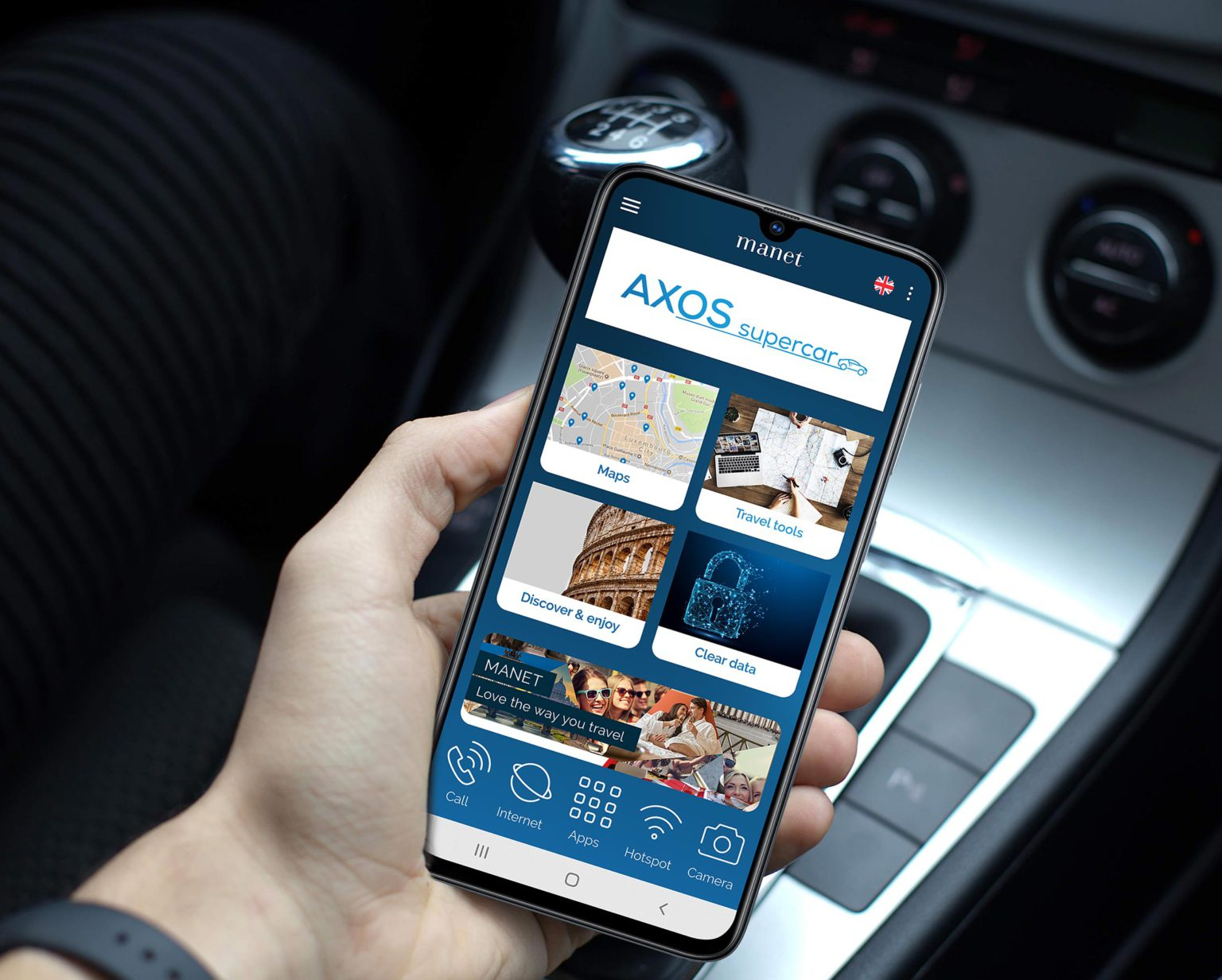 Manet mobile for car rentals